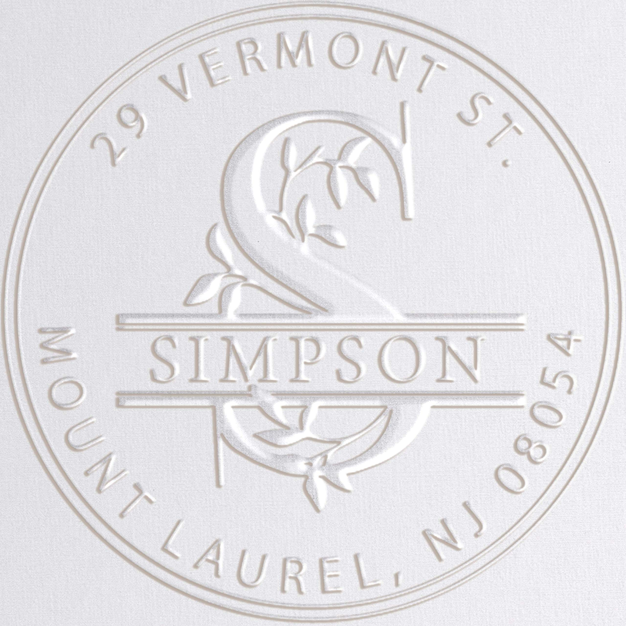 Monogram Address Embosser Seal Stamp Personalized Customized Monogram Wedding Invitations 1 x 5/8'' by Pickled Stamps
