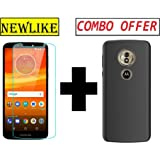 Newlike Combo of Premium Real 2.5D 9H Anti-Fingerprints & Oil Stains Coating Hardness Screen Protector Guard and Back Case for Motorola Moto E5 Plus