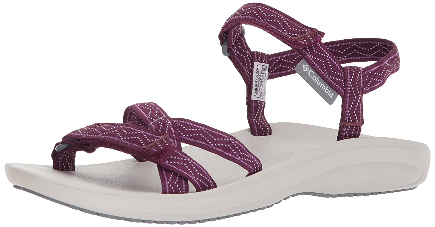 Columbia Women's Wave Train Sport Sandal B073RNR21Z 9 B(M) US|Dark Raspberry, White