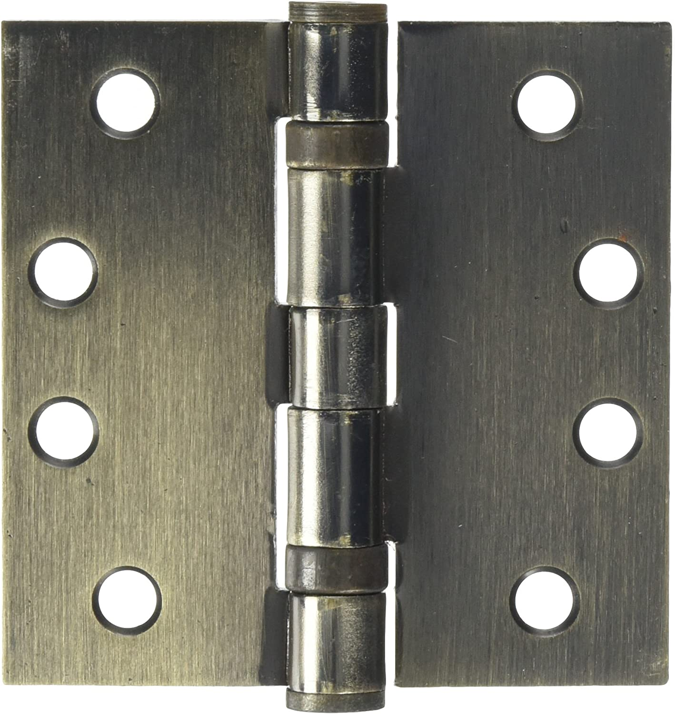 Deltana S44HDBBUSPW HD Ball Bearings Steel 4-Inch x 4-Inch Square Hinge