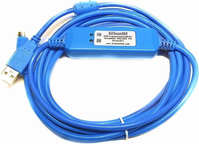 N//A MELSEC RS232 a RS422 SC-09 Adaptador de Cable de programaci/ón PLC para Mitsubishi