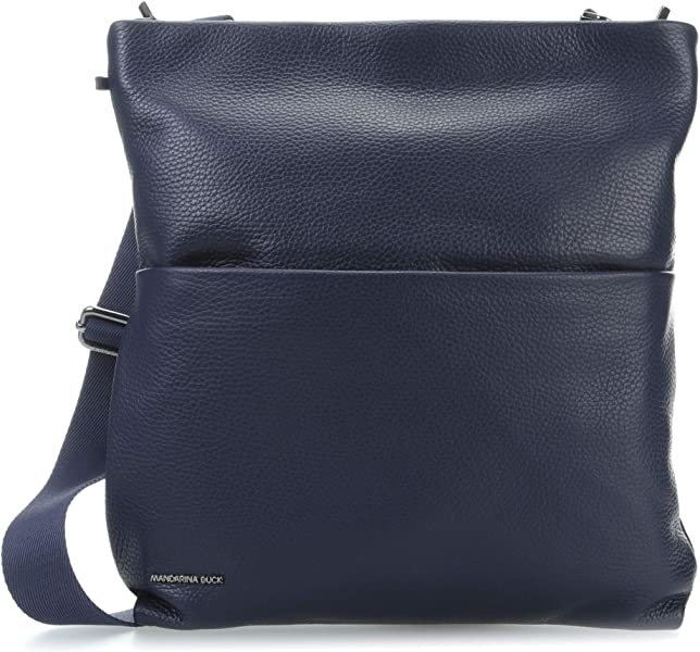 Mandarina Duck Mellow Leather Borsa a tracolla blu: Amazon