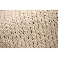 SiAura Material ® - 10m snoer katoen, gevlochten, grijswit (natuurlijke kleuren), 8mm