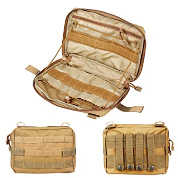Sistema MOLLE, Admin Gadget utilidad negro táctico Extra grande mochila cinturón cámara EDC de primeros auxilios para chaleco Nylon organizador rápido: ...