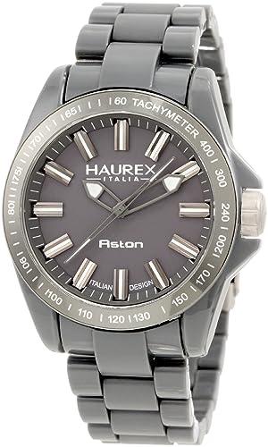 2596826873e4 Haurex Italy Aston - Reloj analógico de caballero de cuarzo con correa de  plástico gris  Amazon.es  Relojes