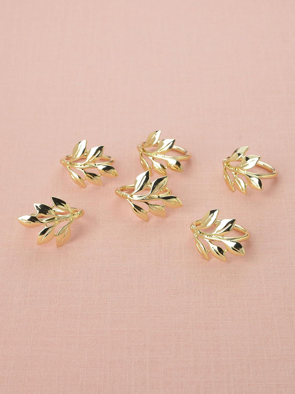 Amazon.com: AW BRIDAL Napkin Rings Set of 12, Gold Wedding Serviette ...