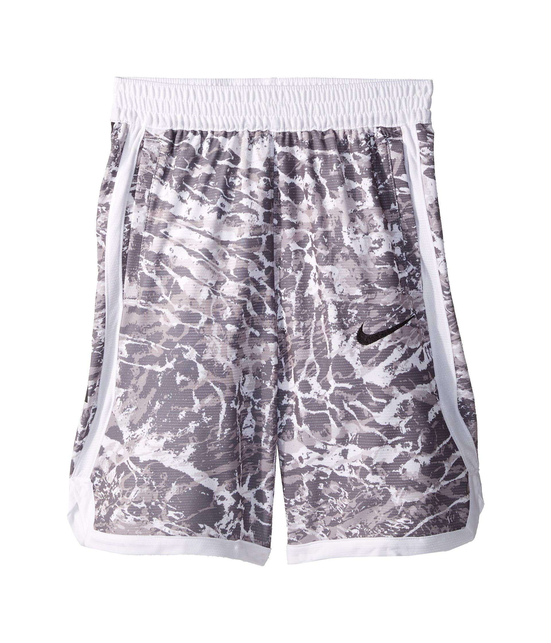 Nike Boy's Dri-FIT Elite Printed Basketball Shorts (White/White, Small) by Nike