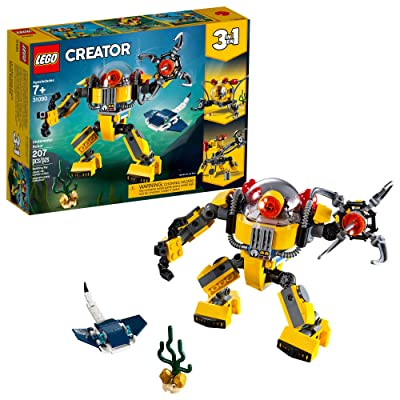 LEGO Creator 3in1 Underwater Robot 31090 Building Kit (207 Pieces): Toys & Games