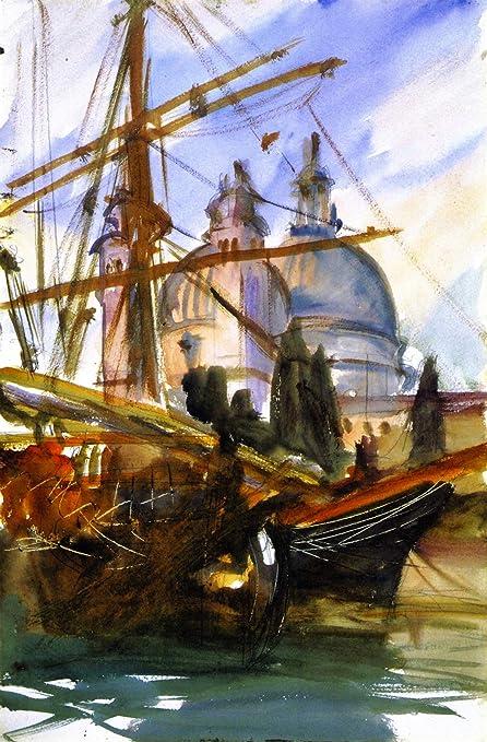 John Singer Sargent Watercolor Reproductions Venice La Salute Fine Art Print