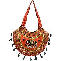 Craft Trade Cotton Multicolour Rajasthani Print Shoulder Bag For Women