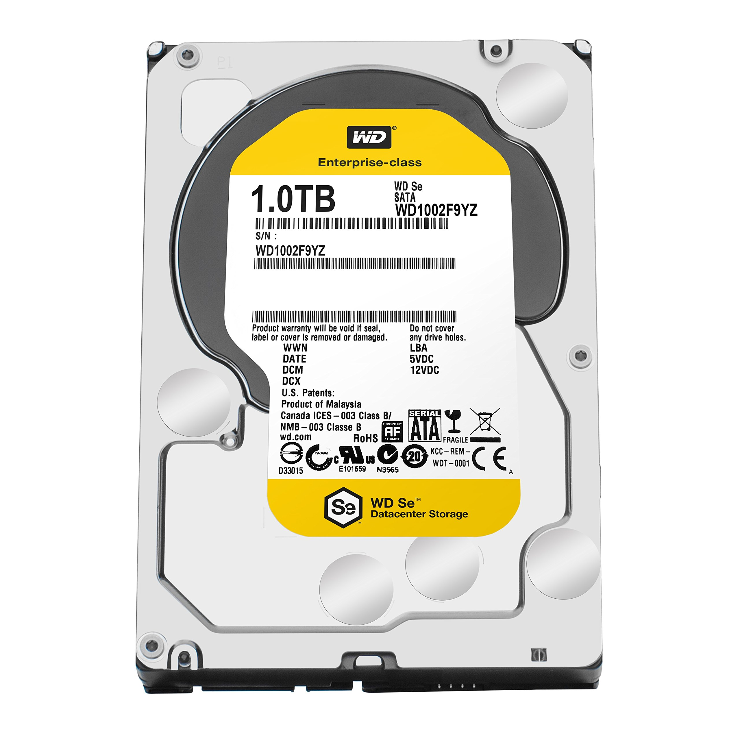 WD SE 1TB Datacenter Hard Disk Drive - 7200 RPM SATA 6 Gb/s 128MB Cache 3.5 Inch - WD1002F9YZ by Western Digital