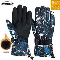 Overmont Guantes Unisex de esquí Impermeable térmica a