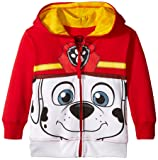 Nickelodeon Toddler Boys' Paw Patrol Character Big Face Zip-Up Hoodies, Marshall Red, 5T