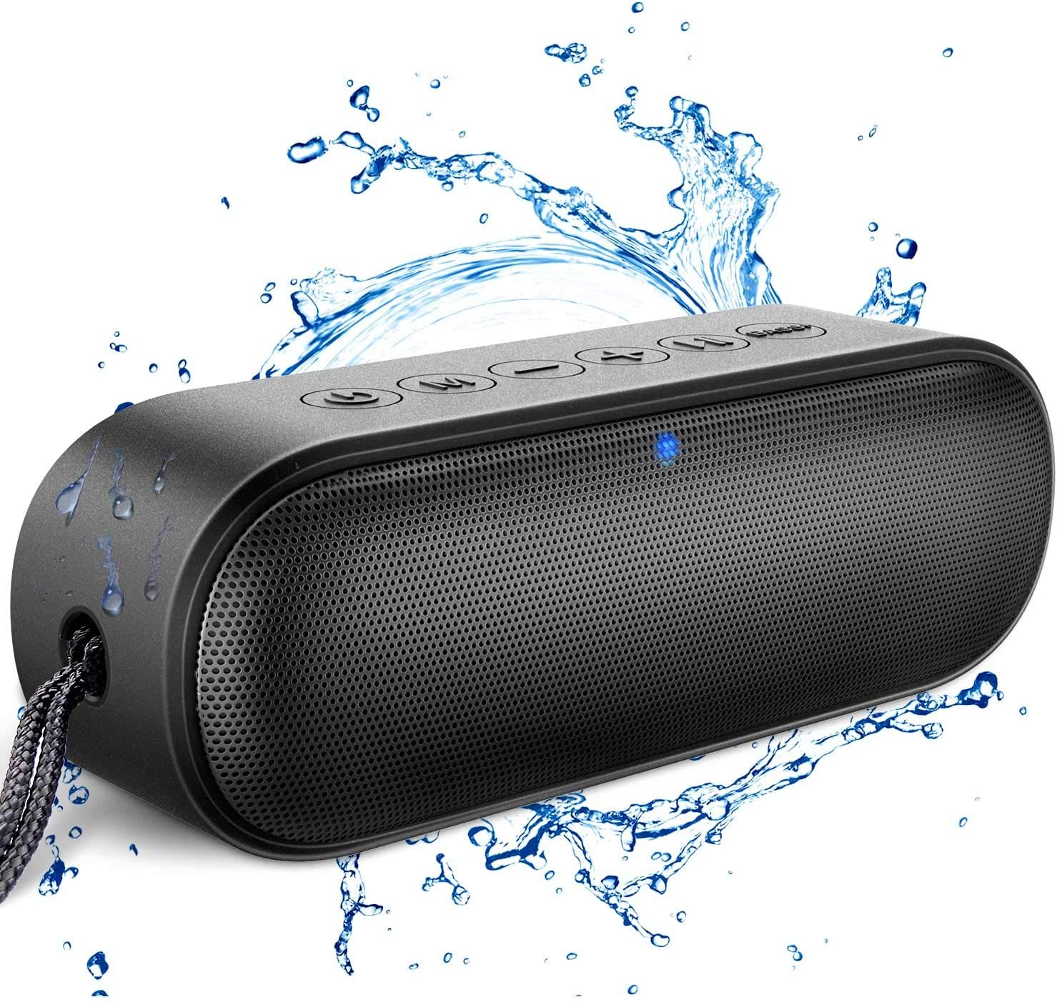 Amazon Com Kunodi A15 Portable Bluetooth Speaker V5 0 Wireless Shower Speaker Ipx7 Outdoor Waterproof With 12w Hd Sound Exceptional Bass Mode Built In Mic 18 Hour Playtime For Iphone Samsung And More Home