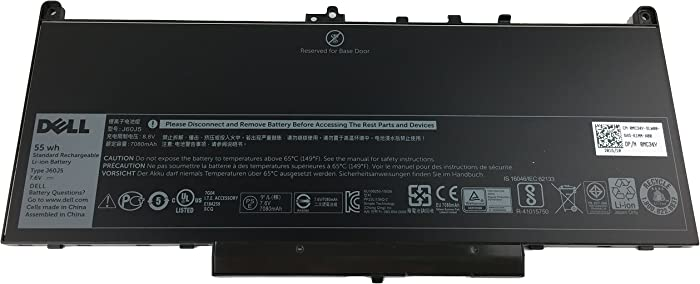 Genuine Dell Built-in Battery for Latitude E7270 & E7470 - Type J60J5 7.6V 55WH