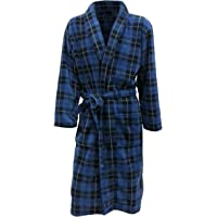 John Christian Men's Fleece Robe by Blue Tartan