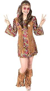 179e5204e3 Amazon.com: Fun World Women's Peace Love Hippie Costume: Clothing