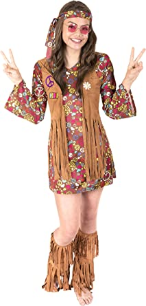 Disfraz de Canguro de Halloween – Love n Peace Hippie, Multicolor ...