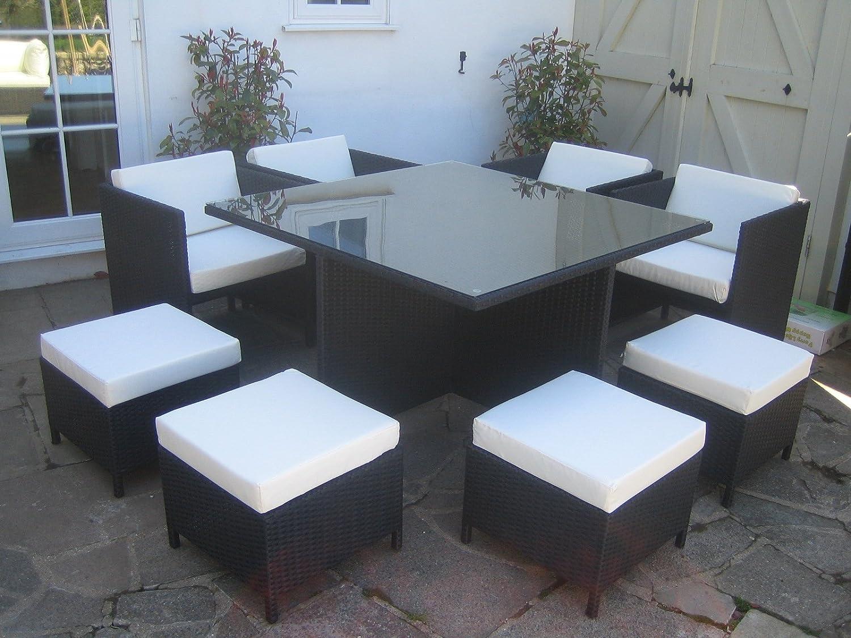 Rattan Garden Furniture Cube Outdoor Patio Set: Amazon.co.uk: Garden U0026  Outdoors
