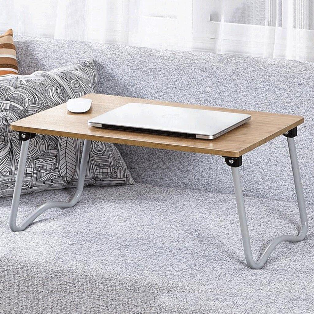 GAOLILI シンプルな学生寮でラップトップのベッドテーブルを書くラーニングデスク小さなデスクの折り畳み式レイジーテーブル (色 : D) B07DNS71RM D D