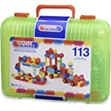 Bristle Blocks Toy Building Blocks for Toddlers (113 Pieces in Case)