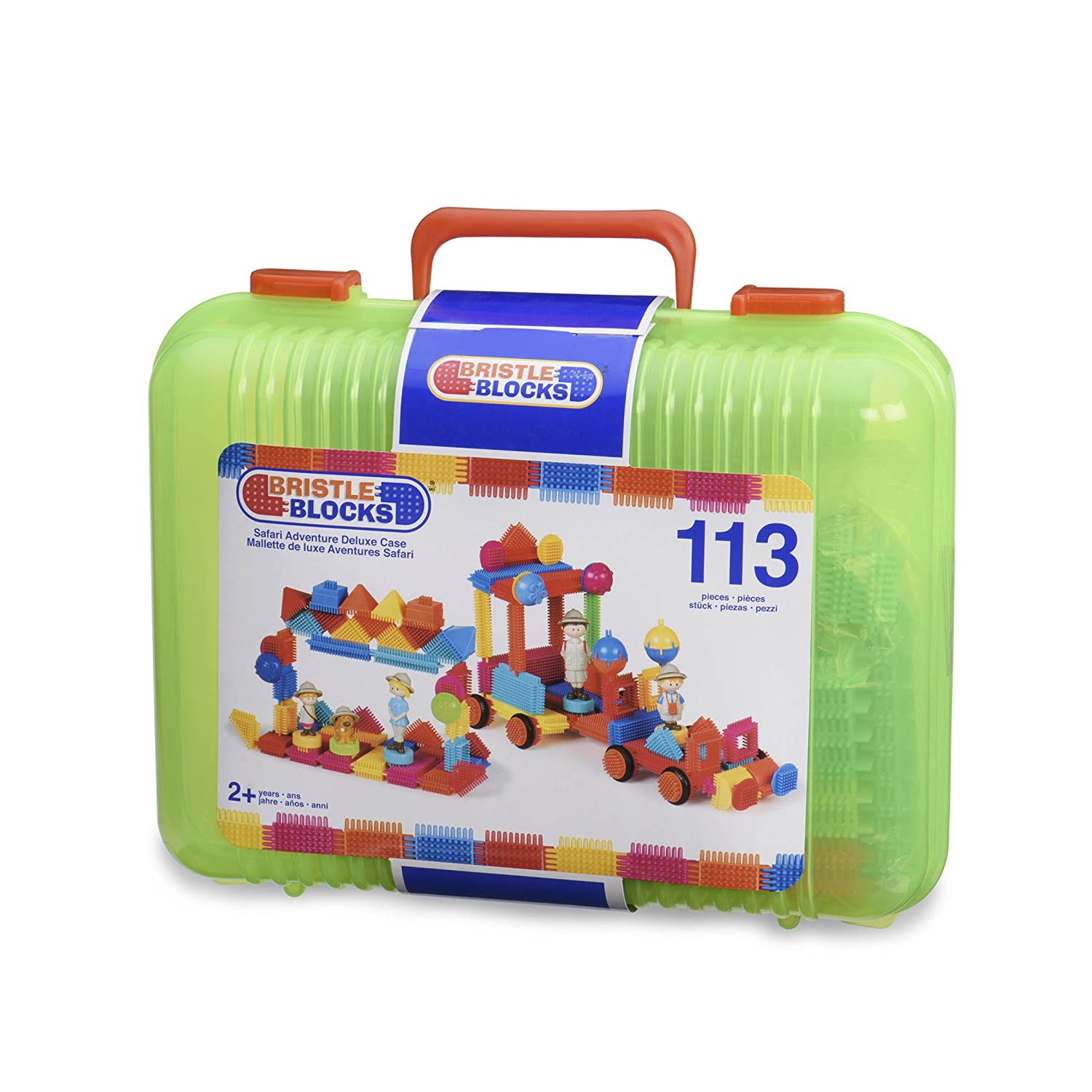 BRISTLE BLOCKS By BATTAT The Official 128 Pieces in a Bucket – Creativity Building Toys for Dexterity and Fine Motricity – BPA Free 2 Years Branford LTD 3088Z