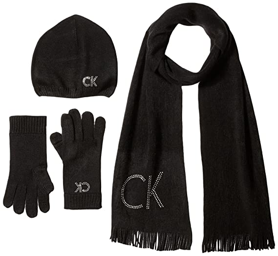 Calvin Klein Women s Three Piece Studded Logo Scarf Set dab660bb773