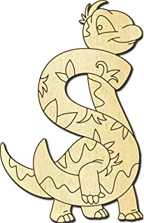 Holzbuchstaben Farbklecks Collection Holzbuchstabe Dinosaurier C Holz-Buchstabe Buchstabentiere 20 cm H/öhe