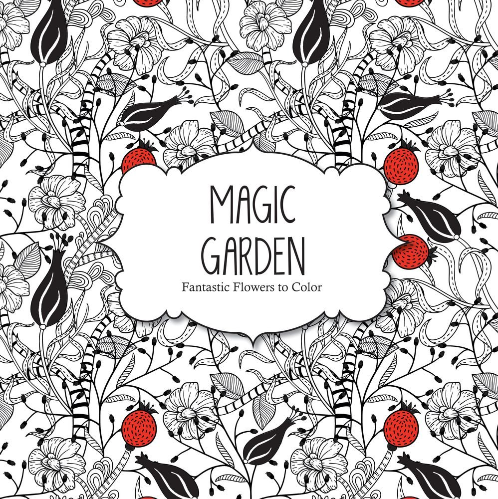 magic garden fantastic flowers coloring book for adults amazon