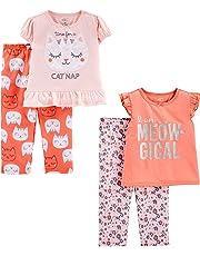 Simple Joys por Carter's Little Kid y Conjunto de Pijama de 4 Piezas para niñas pequeñas