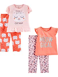 7d2366498a Simple Joys by Carter s Little Kid and Toddler Girls  4-Piece Pajama Set