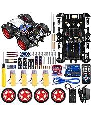 Robot Arduino, Tracción en 4 Ruedas, Evitación de Obstáculos por Infrarrojos y Ultrasónicos,