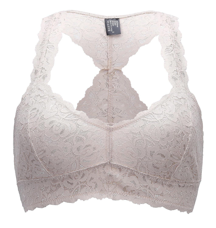 Underwear & Sleepwears Women's Intimates Sexy Women Casual Lace Bralette Padded Bra U Back Sleeping Brassiere Fashion Cross Side Closure Wireless Bra Top