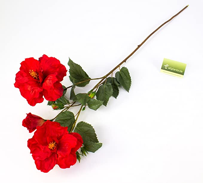 9 Boutons A.K TRADING Fleur Bouquet BUISSON Hibiscus X REF BS3051 Code 1856 Jaune
