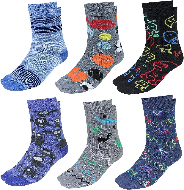 TupTam Kinder Unisex Socken Bunt Gemustert 6er Pack