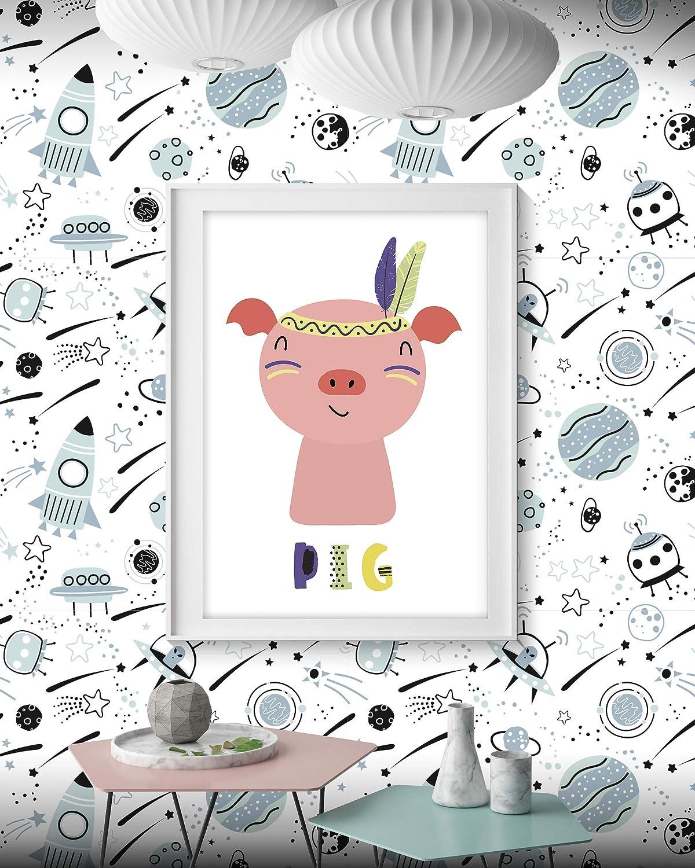 Imprim/é sur Papier Lavable et R/ésistant La colle est N/écessaire pour Fixer au Mur Panorama Papier Peint Ginko 66x300cm Papier Peint Salon Chambre Enfant Salle de Bain Installation Facile