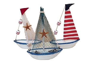 MEIERLE U0026 Söhne 3 Stück Hochwertige Deko Schiffe Boote Dekoration Tischdeko  Schaufenster Dekoration Schaufensterdeko Partydeko Tisch