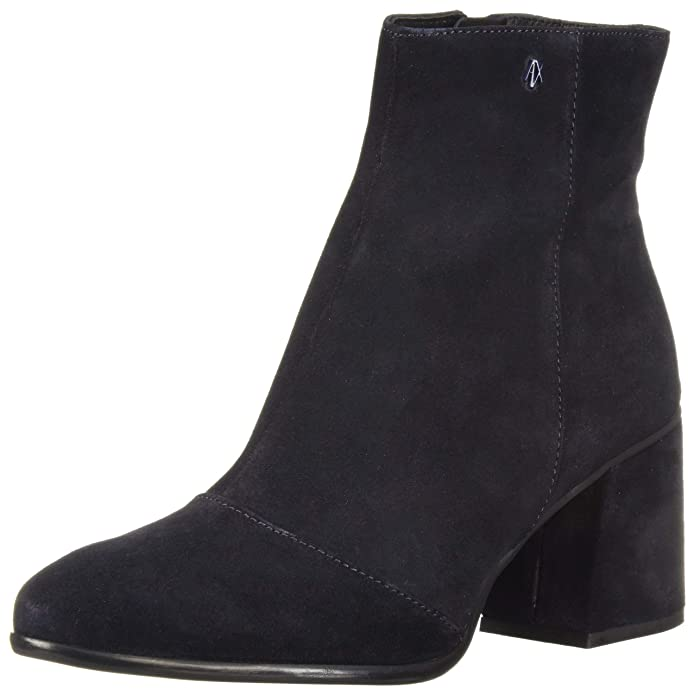 A|X Armani Exchange Women's Suede Boot with Block Heel Fashion, Navy, 35M M EU (5 US)
