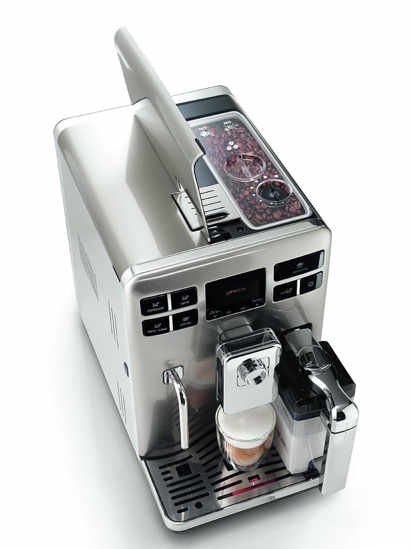Saeco Exprelia - Cafetera espresso automática, con espumador de leche clásico y recipiente para leche, color negro: Amazon.es: Hogar