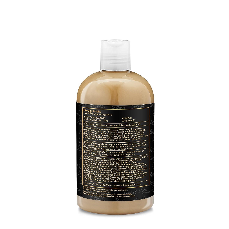 SheaMoisture African Black Soap Dandruff Control Unisex Profesional Champú 384ml - Champues (Unisex, Profesional, Champú, Cabello seco, 384 ml, Water (Aqua) ...