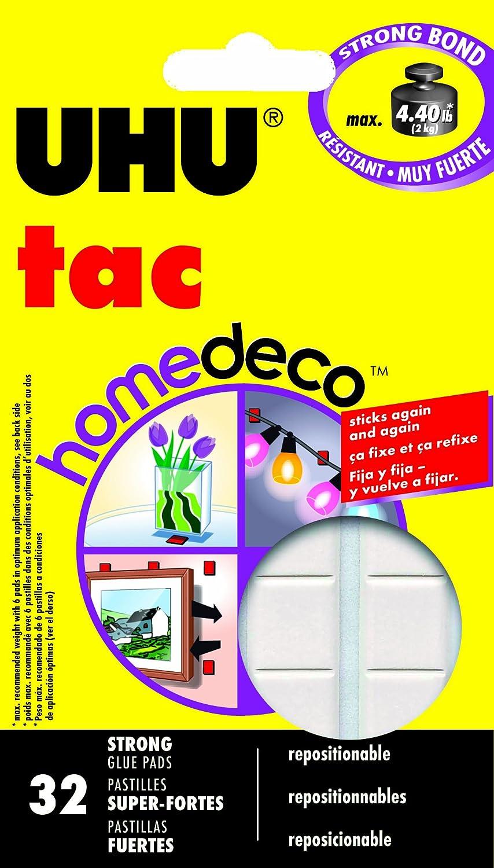 UHU Tac HomeDeco, 2.1 oz (60g), 32 Pads (48710)