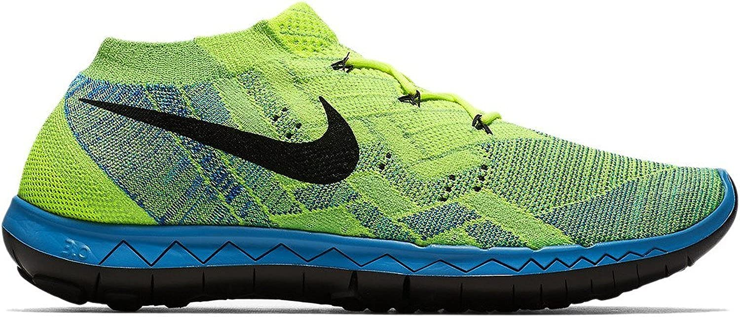 Amazon.com  NIKE Free 3.0 Flyknit Mens Running-Shoes 718418-70011 -  VoltBlue LagoonGreen StrikeBlack  Road Running