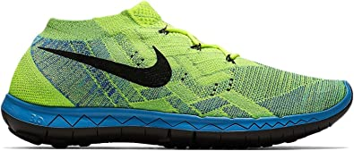 a393395aba8d Nike 3.0 Flyknit Men s Volt Blue Lagoon Green Strike Black Running Shoes -