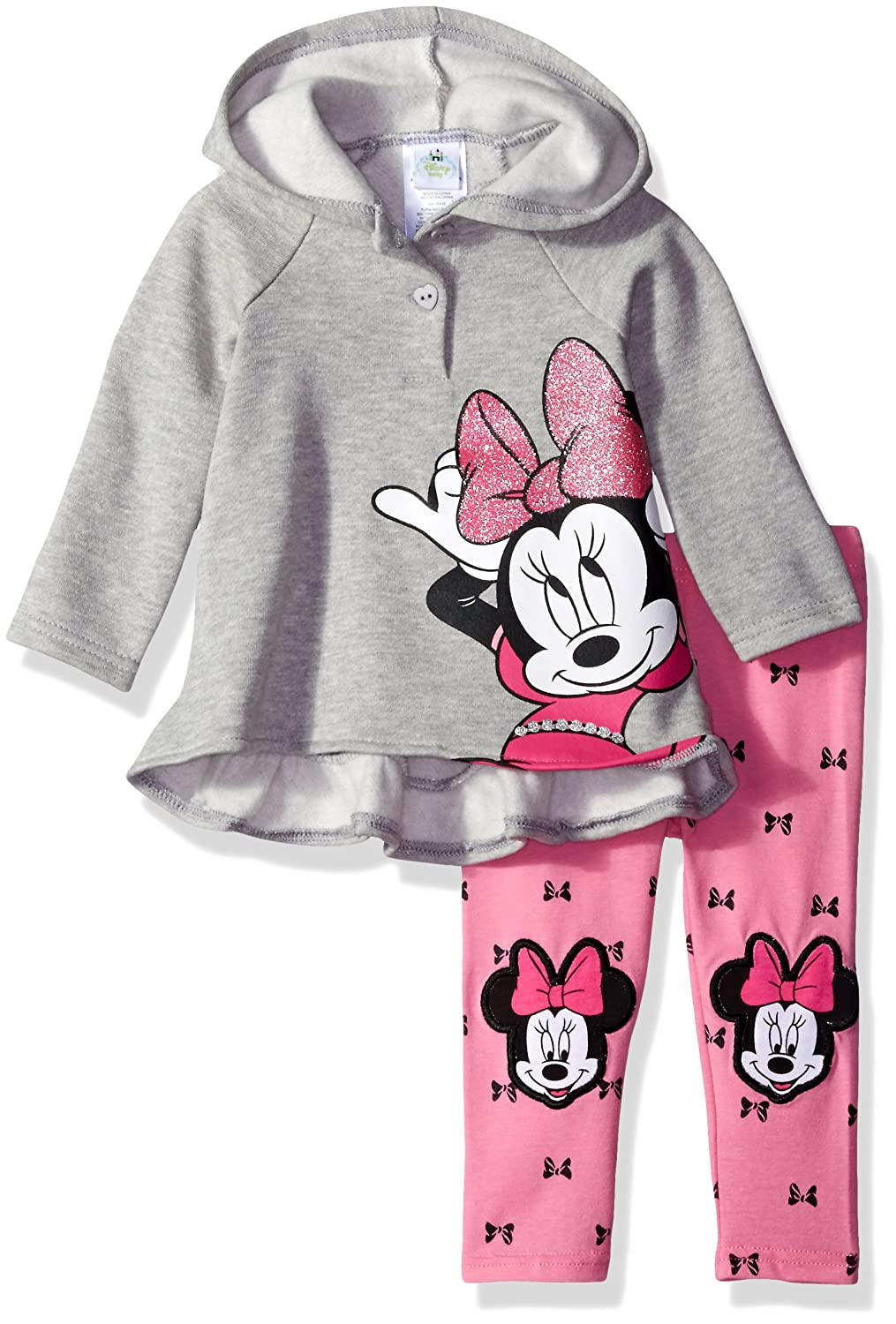 Amazon.com: Disney Baby Girls\' 2-Piece Minnie Mouse Hooded Pullover ...
