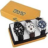 Piraso Combo Set of 3 Retro Watches for Boys & Men's-P3-10-S