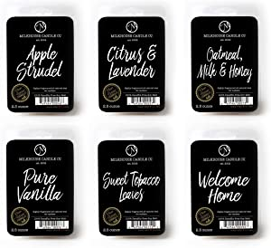 Milkhouse Candles Variety Fragrance Melts - Apple Strudel, Citrus & Lavender, Oatmeal, Milk & Honey, Pure Vanilla, Sweet Tobacco Leaves, Welcome Home, 6 Pack