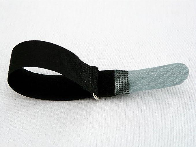 Kabelklett Klettband Kabel-Klettband Kabelbinder schwarz-gelb 10 St 200x20mm