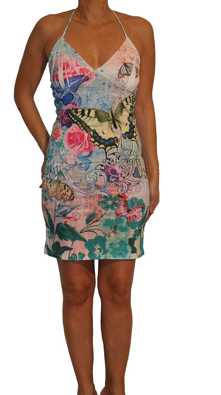 Waooh - Mode - kurzes Kleid Aria - blau-weiß
