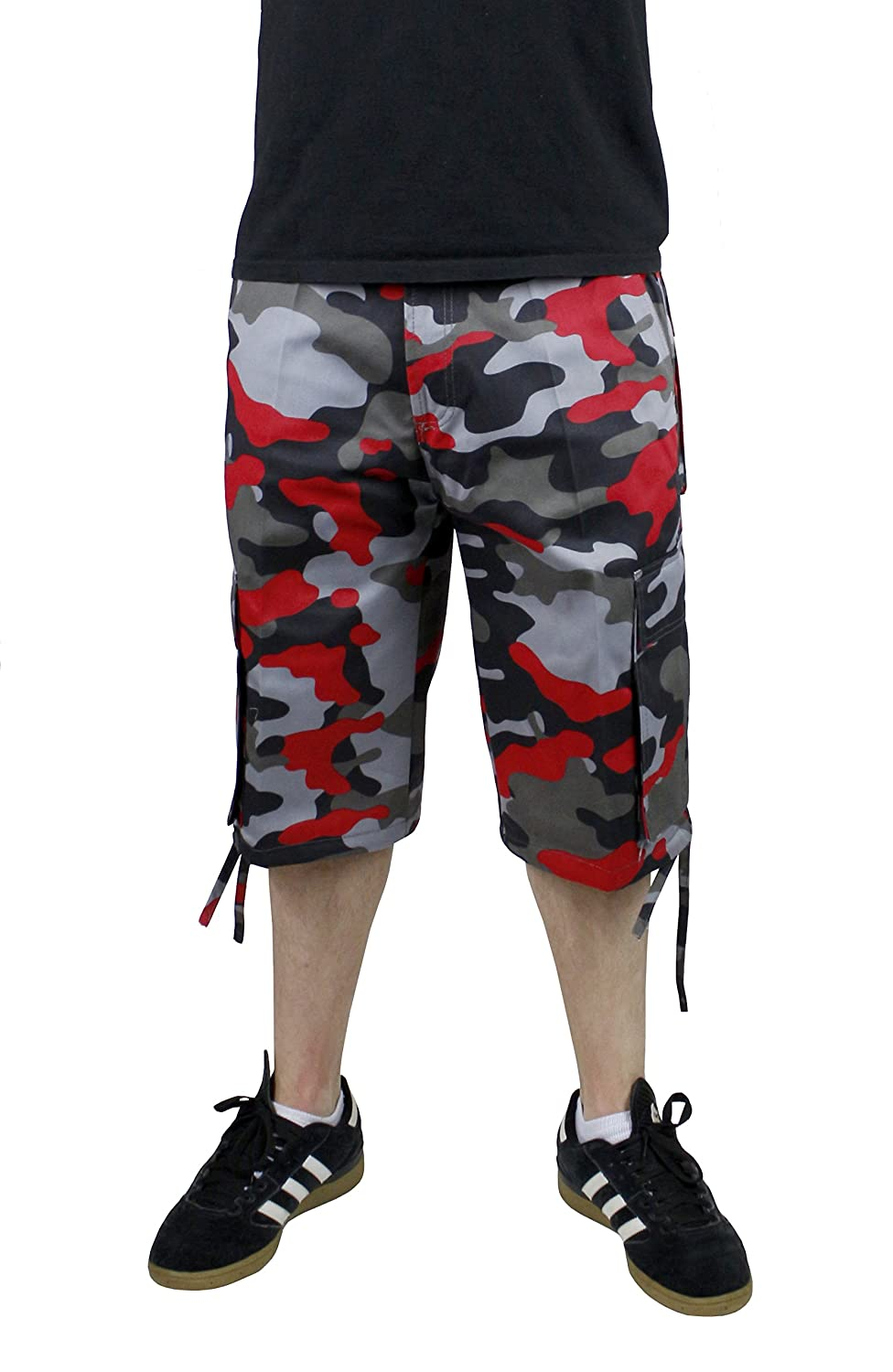 Access Men's Camouflage Cargo Shorts with Belt