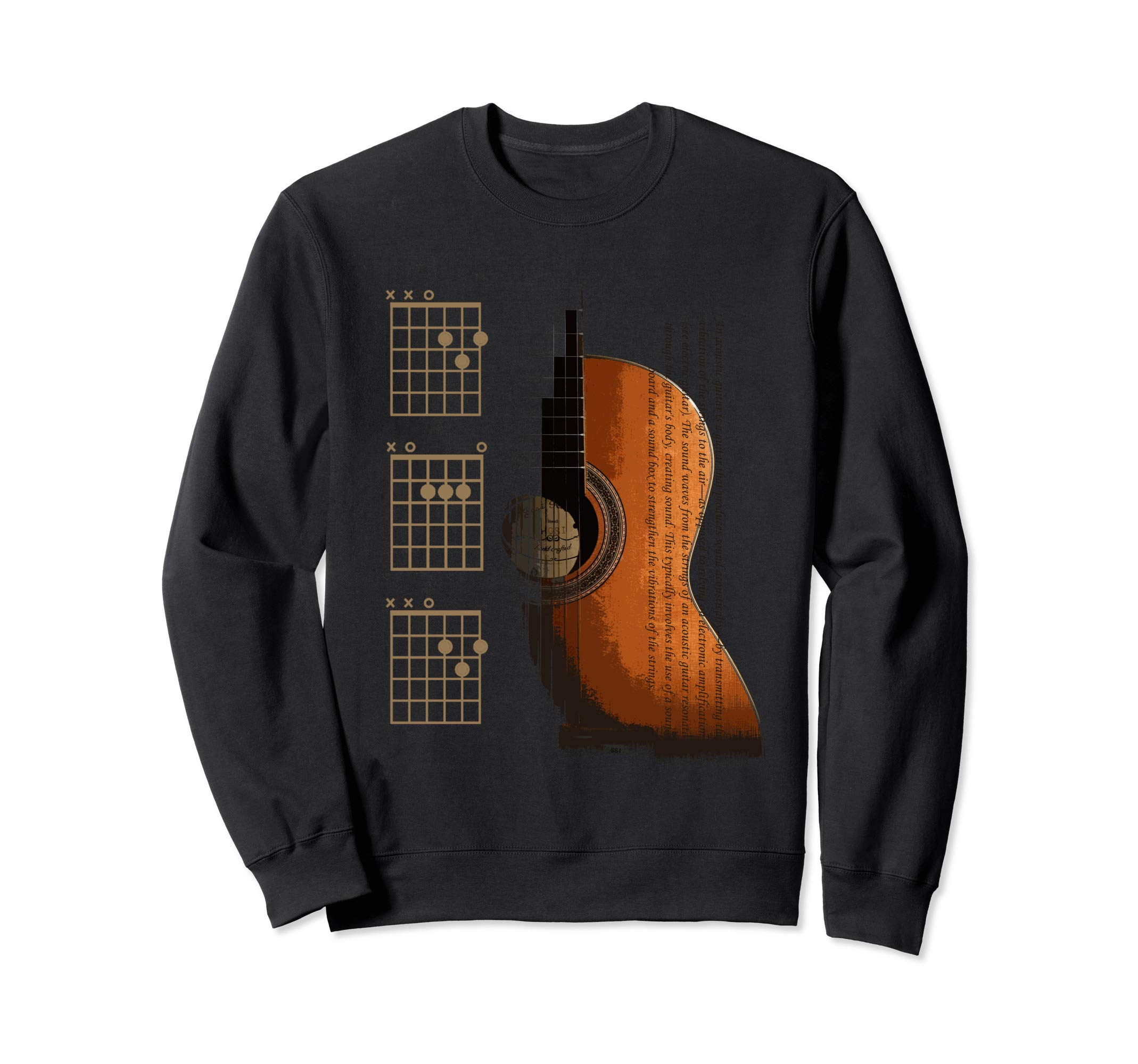 DAD Chords Acoustic Guitar For The Guitarist Sweatshirt by The Acoustic Guitarist